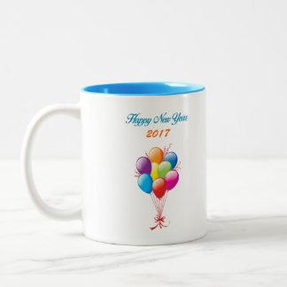 Caneca De Café Em Dois Tons O feliz ano novo 2017 copos