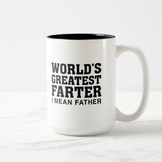 Caneca De Café Em Dois Tons O grande Farter do mundo