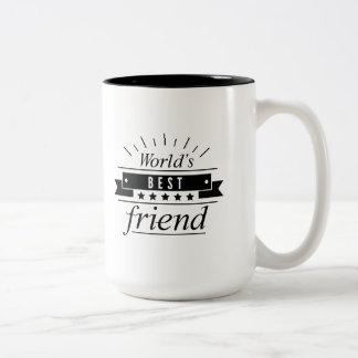 Caneca De Café Em Dois Tons O melhor amigo do mundo
