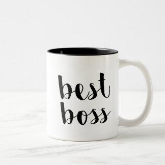 Caneca De Café Em Dois Tons O melhor chefe