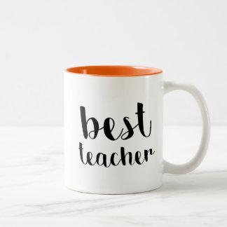 Caneca De Café Em Dois Tons O melhor professor