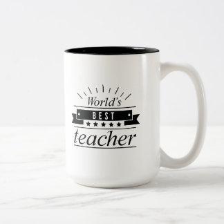 Caneca De Café Em Dois Tons O melhor professor do mundo