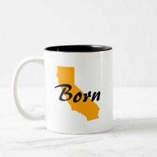 Caneca De Café Em Dois Tons O nascer de Califórnia, Texas aumentou