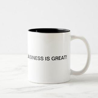 Caneca De Café Em Dois Tons O negócio é sempre bom, quando você tem um
