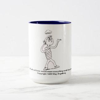 Caneca De Café Em Dois Tons O nó coleção de 2 Cuidado-UM-Gramas pode Angelking
