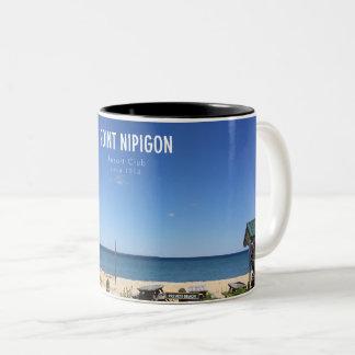 Caneca De Café Em Dois Tons O ponto no ponto Nipigon Envoltório-em torno da