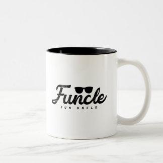 Caneca De Café Em Dois Tons O preto desvanece-se tio do divertimento de Funcle
