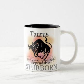 Caneca De Café Em Dois Tons O Taurus sobre você agride