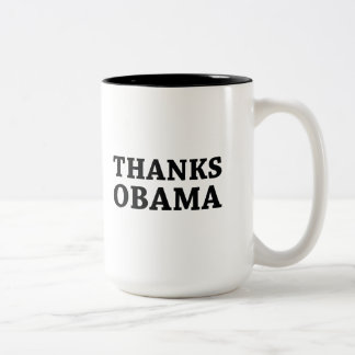 Caneca De Café Em Dois Tons Obrigados Obama