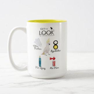 Caneca De Café Em Dois Tons Obtenha o copo do olhar
