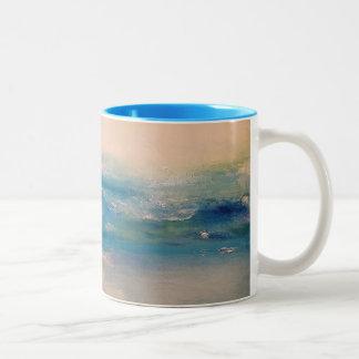 Caneca De Café Em Dois Tons Oceanos da manhã