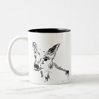 Caneca De Café Em Dois Tons Oh ilustração dos cervos