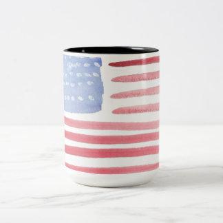 Caneca De Café Em Dois Tons Orgulho da bandeira americana dos EUA