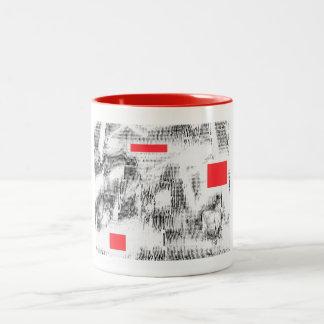 Caneca De Café Em Dois Tons Original de MarkyArt do vermelho PL#103026 3
