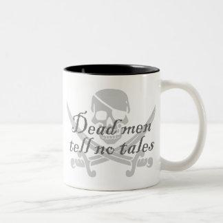 Caneca De Café Em Dois Tons Os homens inoperantes não dizem nenhum conto