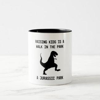 Caneca De Café Em Dois Tons Os miúdos são dinossauros