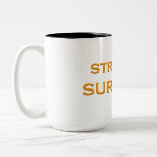 Caneca De Café Em Dois Tons Ouro do copo do sobrevivente