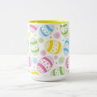 Caneca De Café Em Dois Tons Ovos da páscoa