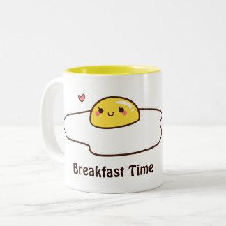 Caneca De Café Em Dois Tons Ovos para o pequeno almoço