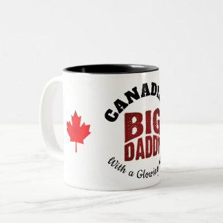Caneca De Café Em Dois Tons PAI GRANDE - canadense com um coração de