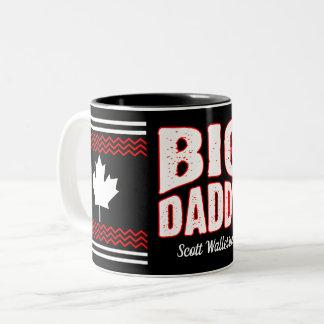 Caneca De Café Em Dois Tons Pai grande do bordo canadense (seu nome)