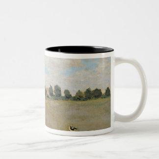 Caneca De Café Em Dois Tons Papoilas selvagens de Claude Monet |, perto de