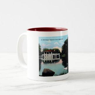 Caneca De Café Em Dois Tons Parque de Milwaukee, Wisconsin, Humboldt, vintage