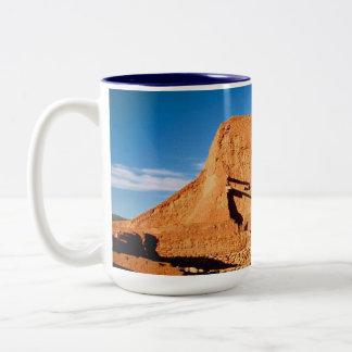 Caneca De Café Em Dois Tons Parque histórico nacional dos Pecos