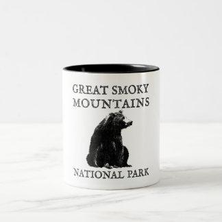 Caneca De Café Em Dois Tons Parque nacional de Great Smoky Mountains