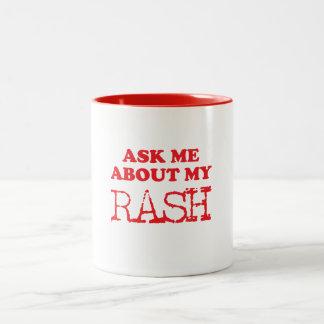 Caneca De Café Em Dois Tons Pergunte-me sobre meu prurido