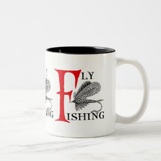 Caneca De Café Em Dois Tons Pesca com mosca com atração da pesca