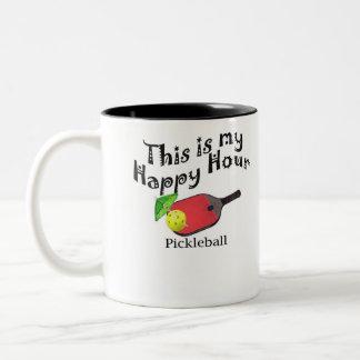Caneca De Café Em Dois Tons Pickleball: Este é meu happy hour