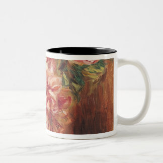 Caneca De Café Em Dois Tons Pierre rosas de Renoir um | em um vaso