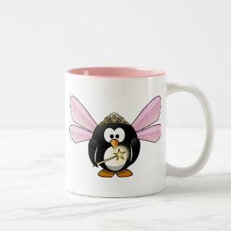 Caneca De Café Em Dois Tons Pinguim feericamente