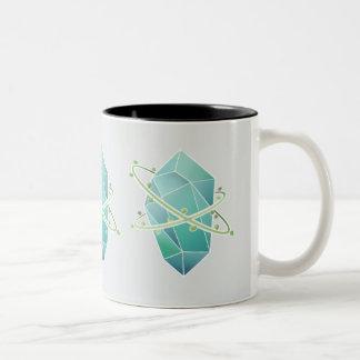 Caneca De Café Em Dois Tons Plat o cristal