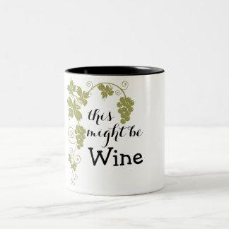 Caneca De Café Em Dois Tons Pôde ser o vinho
