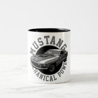 Caneca De Café Em Dois Tons Poder mecânico do mustang