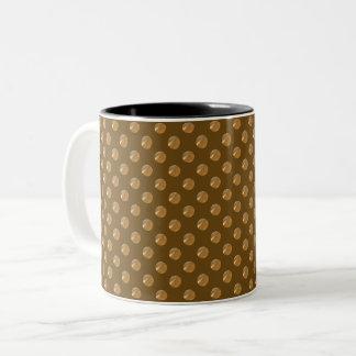 Caneca De Café Em Dois Tons Pontos do ouro da polca