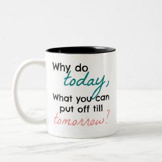 Caneca De Café Em Dois Tons Por que fazem hoje, que você podem pôr fora até