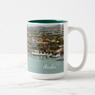 Caneca De Café Em Dois Tons Porto de Aruba