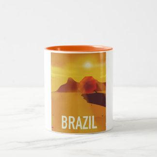 Caneca De Café Em Dois Tons Poster de viagens de Brasil