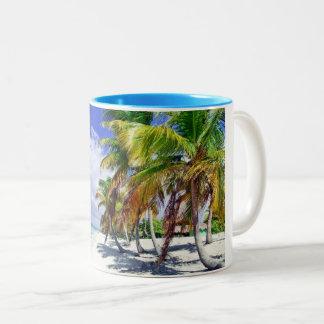 Caneca De Café Em Dois Tons Praia de Domenicana