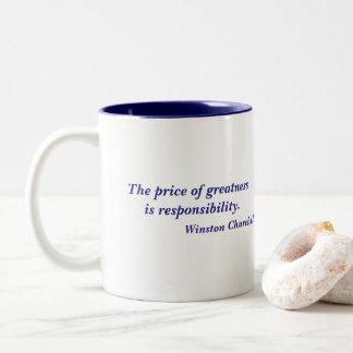 Caneca De Café Em Dois Tons Preço de Winston Churchill de citações da grandeza