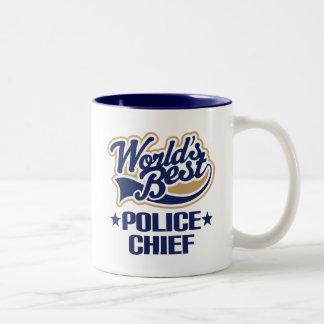 Caneca De Café Em Dois Tons Presente do chefe de polícia