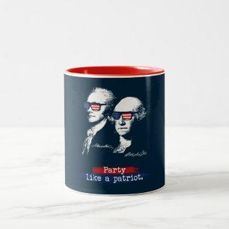 Caneca De Café Em Dois Tons Presente dos patriotas de Alexander Hamilton