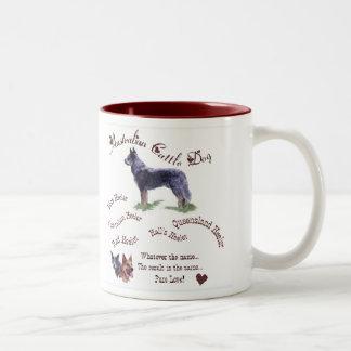 Caneca De Café Em Dois Tons Presentes australianos do cão do gado
