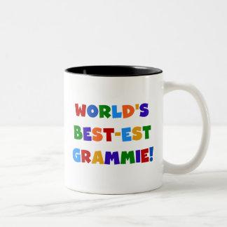 Caneca De Café Em Dois Tons Presentes do Melhor-est Grammie do mundo brilhante