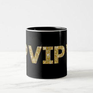 Caneca De Café Em Dois Tons Preto & brilho VIP do ouro