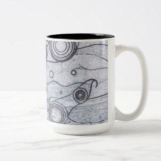 Caneca De Café Em Dois Tons Preto e branco