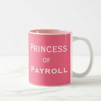 Caneca De Café Em Dois Tons Princesa do apelido fêmea engraçado do gerente da